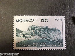MONACO 1939, Timbre 195, SPORT STADE LOUIS II, Neuf**, VF MNH STAMP STADIUM - Autres Collections