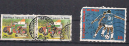 Benin 1989 30 Years Council For Agricultural Development, Tractor, Flags / Map, Mi A 481 Cancelled(o) - Benin – Dahomey (1960-...)