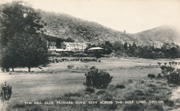 THE HILL CLUB. NUWARA ELIYA.  SEEN ACROSS THE GOLF LINKS, CEYLON. RPPC (Real Photo) - No. 14, Copyright By PLATE LTD. - Sri Lanka (Ceylon)