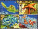 Polynesie Francaise 2013  4 V  MNH Faune Marine Tortue Fish Turtle Schildkröte Etoile De Mer   Corals - Vita Acquatica