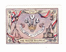 Vignette Militaire Delandre - Angleterre - The Welsh Regiment - Erinnofilia