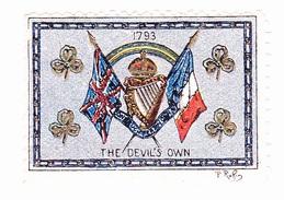 Vignette Militaire Delandre - Angleterre - The Devil's Own - Erinnofilia