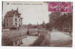 BRIVE - N° 46 - LA GUIERIE - LES BORDS DU CANAL  AVEC PERSONNAGES- BEAU CACHET - CPA VOYAGEE - Brive La Gaillarde