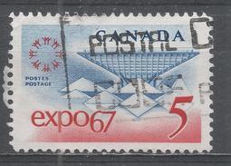 Canada 1967, Scott #469 EXPO 67, Emblem And Canadian Pavilion (U) - 1952-.... Règne D'Elizabeth II