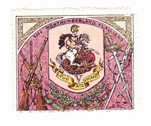 Vignette Militaire Delandre - Angleterre - The Northumberland Fusiliers - Erinnofilia