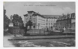 BRIVE EN 1916 - N° 34 Ter - SQUARE MAJOUR ET HOTEL BORDEAUX - CPA VOYAGEE - Brive La Gaillarde