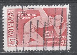 Canada 1967, Scott #472 Runner, Pan-American Games (U) - 1952-.... Règne D'Elizabeth II
