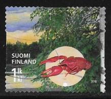 Finland, Scott # 1362a Used Autumn Forest, Crayfish, 2010 - Finnland