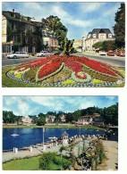 9N   LOT DE 2 CARTES DE BAGNOLES SUR  LORNE  LE LAC DU CASINO + ROND POINT FLEURI ET LES HOTELS - Bagnoles De L'Orne