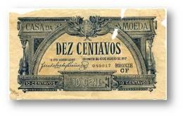 CÉDULA 10 Centavos - Série CF - P 94 - M.A. 4 - Casa Da Moeda - Portugal EMERGENCY PAPER MONEY NOTGELD - Portugal