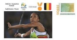 Spain 2016 - Olympic Games Rio 2016 - Gold Medal Athletics Female Belgium Cover - Juegos Olímpicos