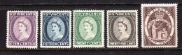 St. Vincent 1964-65 Mint No Hinge, Sc# 209a-213a, SG 207-211 - St.Vincent (...-1979)