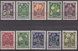Austria Flowers 1948 Mi#868-877 Mint Never Hinged