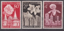 Belgium Flowers 1955 Mi#1010-1012 Mint Never Hinged