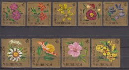 Burundi Flowers 1966 Mi#233-241 Mint Never Hinged