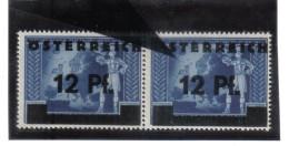 PLF420 ÖSTERREICH 1945 ANK 667 II Michl 667 II PLATTENFEHLER 3 INSELN Im PAAR Mi Normaler MARKE GUMMIANHAFTUNG - Plaatfouten & Curiosa