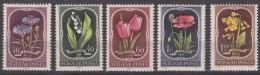 Hungary Flowers 1951 Mi#1208-1212 Mint Never Hinged