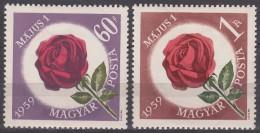 Hungary Flowers 1959 Mi#1581-1582 Mint Never Hinged
