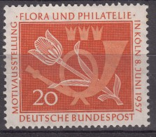 Germany Flowers 1957 Mi#254 Mint Never Hinged