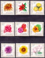 Poland Flowers 1966 Mi#1696-1704 Mint Never Hinged