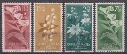 Spanish Guinea Flowers 1959 Mi#356-359 Mint Never Hinged - Guinea Espagnole