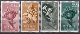 Rio Muni Flowers 1959 Mi#10-13 Mint Never Hinged - Riu Muni
