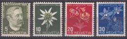 Switzerland Pro Juventute Flowers 1944 Mi#439-442 Mint Never Hinged
