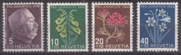 Switzerland Pro Juventute Flowers 1948 Mi#514-517 Mint Never Hinged