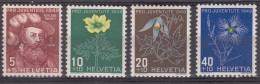 Switzerland Pro Juventute Flowers 1948 Mi#541-544 Mint Never Hinged