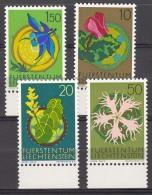 Liechtenstein Flowers 1971 Mi#539-542 Mint Never Hinged