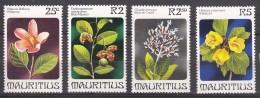 Mauritius Flowers 1981 Mi#507-510 Mint Never Hinged - Mauritius (1968-...)