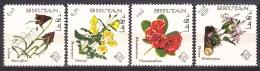 Bhutan Flowers 1967 Mint Never Hinged