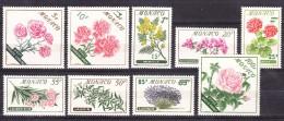 Monaco Flowers 1959 Mi#609-617 Mint Never Hinged - Unused Stamps