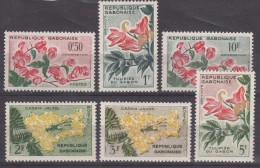 Gabon Flowers 1961 Mi#160-165 Mint Never Hinged - Gabon (1960-...)