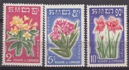 Cambodia Flowers 1961 Mi#118-120 Mint Never Hinged - Cambodja
