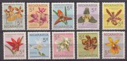 Nicaragua Flowers 1962 Mint Never Hinged - Nicaragua