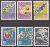 North Korea Flowers 1967 Mi#792-797 Mint Never Hinged - Korea, North