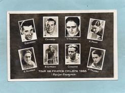 CYCLISME  TOUR DE FRANCE  1935  Equipe ESPAGNOLE   EZQUERRA  TRUEBA  ALVAREZ    An:  1935   Etat: TB - Radsport