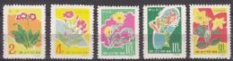 North Korea Flowers 1966 Mi#676-680 Mint Never Hinged - Korea, North