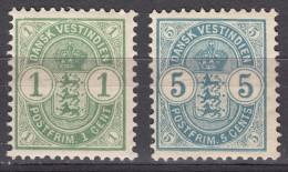 Denmark Danish Antilles (West India) 1900 Mi#21-22 Yvert#16,18 Mint Never Hinged - Dinamarca (Antillas)