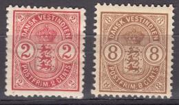 Denmark Danish Antilles (West India) 1903 Mi#27-8 Yvert#17,19 Mint Hinged - Dinamarca (Antillas)