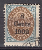 Denmark Danish Antilles (West India) 1902 Mi#26 Yvert#23 Used - Dinamarca (Antillas)