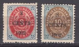 Denmark Danish Antilles (West India) 1902 Mi#23,24 Yvert#20,22 Mint Hinged - Dinamarca (Antillas)