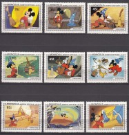 Mongolia Disney 1983 Mi#1531-1539 Mint Never Hinged