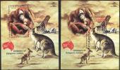 Indonesia 2013 Orangutan Kangaroo Joint With Australia 2 SS MNH - Timbres