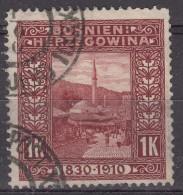Austria Occupation Of Bosnia 1910 Mi#58 Used - Used Stamps