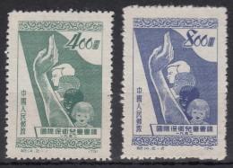 China 1952 Mi#141-142 Mint Hinged - 1949 - ... République Populaire