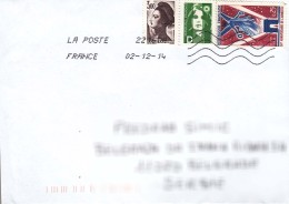France Modern Cover To Serbia - Cartas