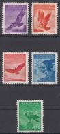 Liechtenstein 1934 Airmail Mi#143-147 Mint Hinged