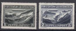 Liechtenstein 1931 Airmail Zeppelin Mi#114-115 Mint Hinged